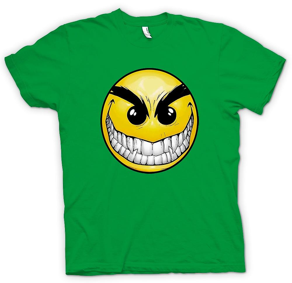 Heren T-shirt-Smiley Face - tanden - Acid House