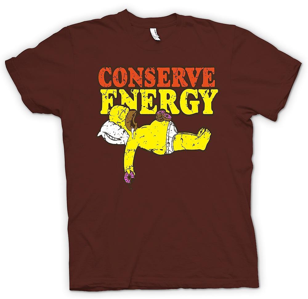 Mens t-shirt - Homer - risparmiare energia