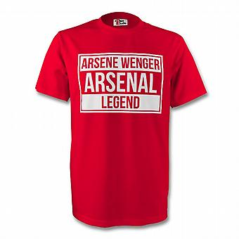 Arsène Wenger Arsenal Legend Tee (rouge) - Enfants