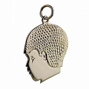 9ct Gold 21x21mm Boy's Head Pendant