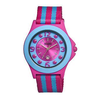 Crayo Carnival Nylon-Band Unisex Watch w/Date - Pink/Cerulean