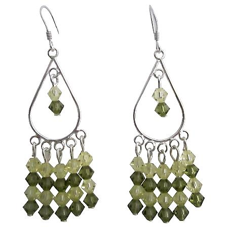 Khakhi & Jonquil Swarovski Crystal Earrings 92.5 Silver Jewelry