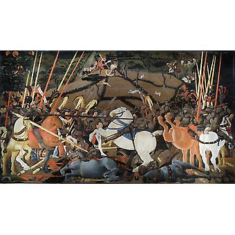 Slaget ved San Romano, Paolo Uccello, 80x45cm