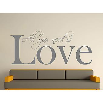 All You Need Wall Art Sticker -  Grey