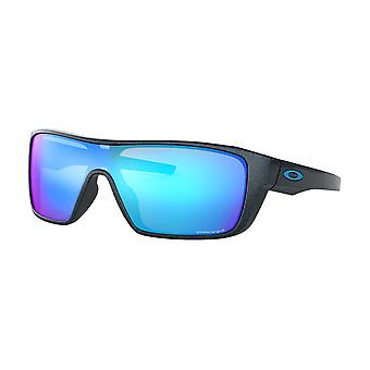 Oakley OO9411 04 Scenic Blue Straightback Rectangle Sunglasses Lens Category 3 Lens Mirrored Size 27mm