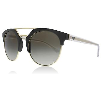 Emporio Armani EA4092 55788E Militay Green/Pale Gold EA4092 Round Sunglasses Lens Category 3 Size 53mm