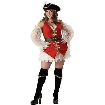 Lady piraat volwassene Plus grootte kostuum