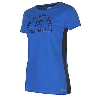 SoulCal Womens Deluxe Mesh Panel T Shirt