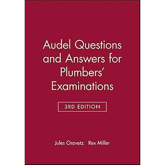 Audel preguntas y respuestas para exámenes de plomería por Jules & Oravetz