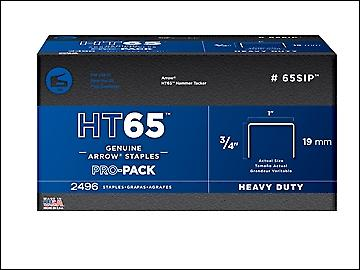 Arrow HT65S Staples 19mm (3/4in) Pack 600