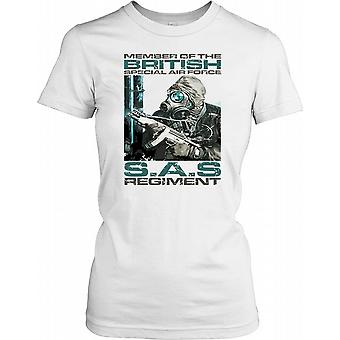 Member of the British Special Air Force - SAS Regiment Ladies T Shirt