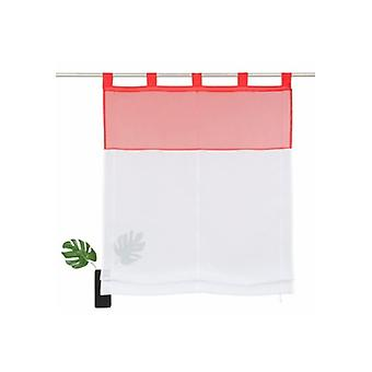 Home affair collection curtain plain Roman shade with white/red eye suspension