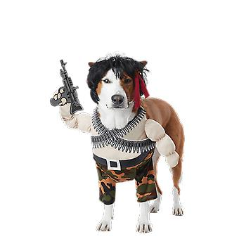 Action Hero Novelty Funny Army Dog Pet Fancy Dress Costume