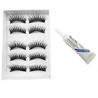 10pcs Luxurious false eyelashes-Fanny + glue