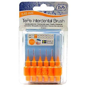 Tepe Interdental Brush 0.45 Orange 6