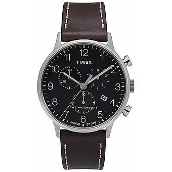 Timex | Waterbury męskie klasyczne Chrono | Czarny cyferblat | Zegarek TW2T28200D7PF