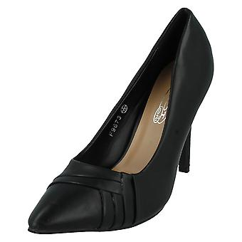 Ladies Spot On Pointed Toe Court Heels