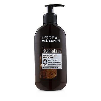 L'oreal Men Expert Barber Club Beard Face & Hair Wash - 200ml/6.76oz