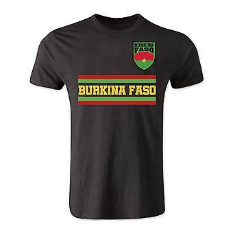 Burkina Faso Core Football Country T-Shirt (Schwarz)