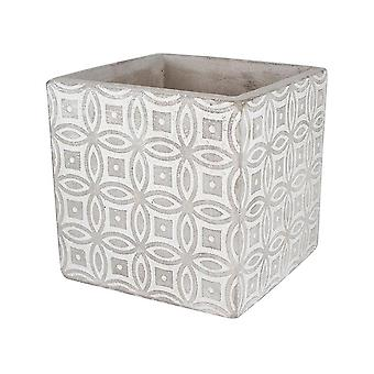 Concrete Pot Square Kaleidoscope Design