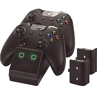 Venom Xbox One Twin docking station med 2 x genopladelige batteripakker: sort (Xbox One)