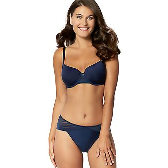 Sans Complexe 319798 Women's Lift Up Marine Blue Solid Colour Knickers Panty Brief