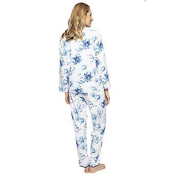 Cyberjammies 1316 Women's Nora Rose Thea Blue Mix Floral Cotton Pyjama Set