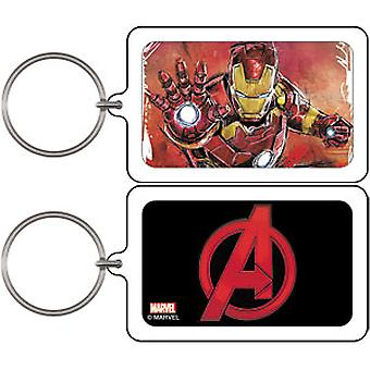 Key Chain - Marvel - Avengers Age of Ultron Iron Man Distressed Lucite k-mvl-0028