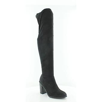 Bar III Womens Diandra Fabric Almond Toe Knee High Fashion Boots