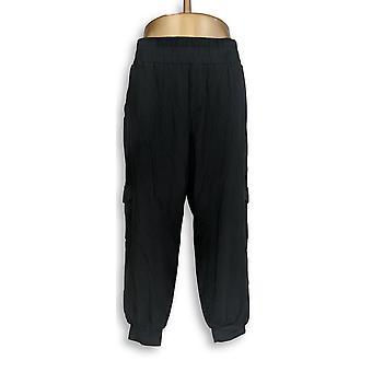 Anyone Women-apos;s Petit Lounge Pantalon, Sleep Shorts LP Cozy Cargo Black A310165