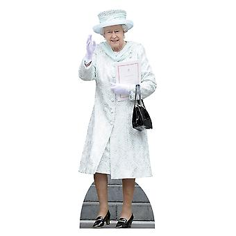 Queen Elizabeth II in White Coat Lifesize Cardboard Cutout / Standee