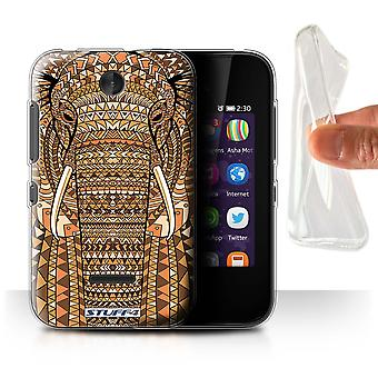 STUFF4 Gel/TPU Case/Cover for Nokia Asha 230/Elephant-Orange/Aztec Animal