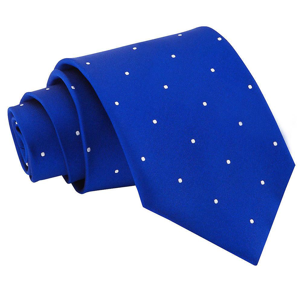 Royal Blue Pin Dot Tie