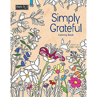 Wells Street by LANG-Simply Grateful Adult Coloring Book WSBL-93004