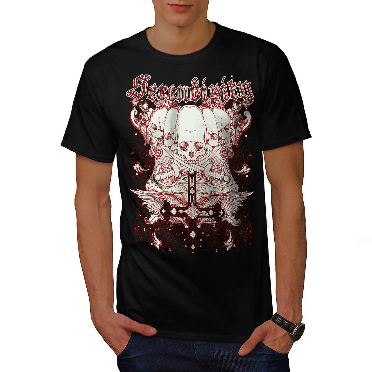 Serendipity Tombstone Grave Yard Men Black T-shirt | Wellcoda