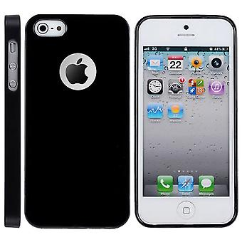 Ultra-tynde gummi TPU cover til iPhone 5 (sort)