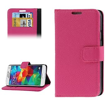 Cover cell phone case (flip cross) for mobile Samsung Galaxy S5 / S5 neo pink