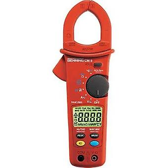 Current clamp, Handheld multimeter digital Benning CM 8 Calibrated to: Manufacturer standards CAT III 600 V Display (co