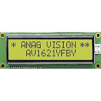 LCD Black Yellow-green (W x H x D) 122 x 44 x 13.5 mm Anag Vision AV1621YFBY-SJ