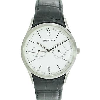 Bering mens watch wristwatch slim classic - 11839-404 leather