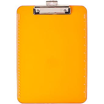 Low Profile Neon Plastic Clipboard-Orange CL897-65