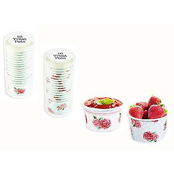 32 x Paper Ice Cream Tubs Sweet Treat Pots Summer Party Cake Lunch Afternoon Tea