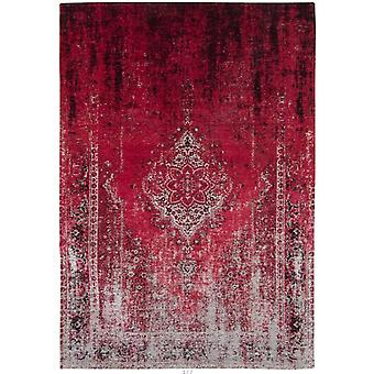 Distressed Raspberry Cream Medallion Flatweave Rug 280 x 360 - Louis de Poortere