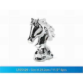 Zilveren Art paard Bust 12