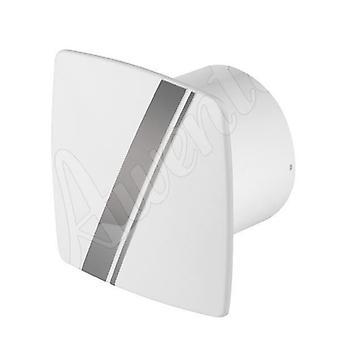 Ventilador de Extractor de pared de baño de cocina blanco 100mm cable de LINEA Awenta estilo con tirón