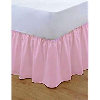 Poly katoen basis Valance Frilled gewoon Bed Sheets beddengoed alle maten