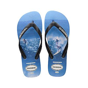 Men's Top Photoprint Flip Flops - Blue