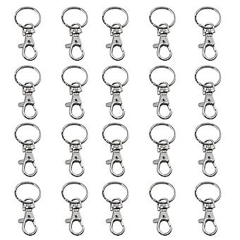 TRIXES 20 X Small Lobster Detachable Swivel Clasps for Key Split Ring Blanks