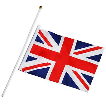 TRIXES 6x British Union Jack Flags for Royals Party Football England St George Team GB