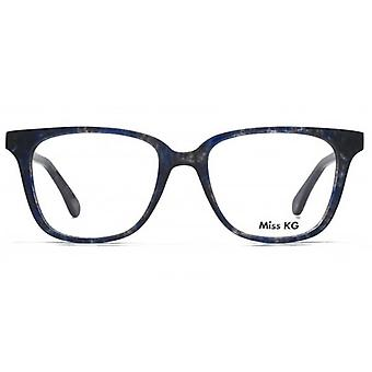 Miss KG Florrje Modern Square Glasses In Blue Demi